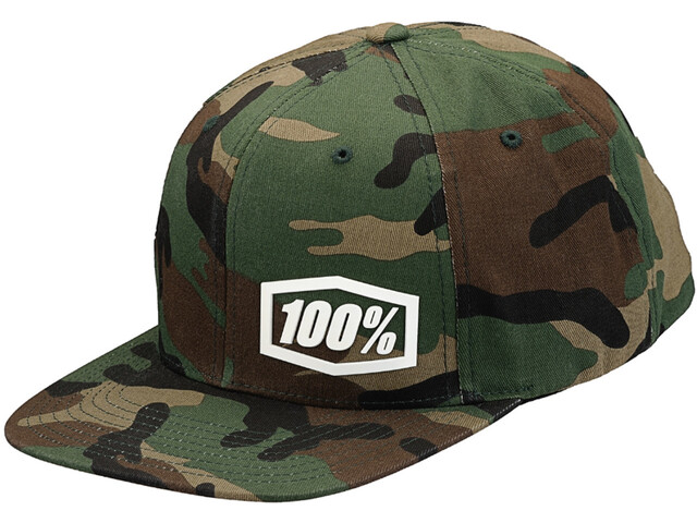 100% Machine Snapback Hat Camo Black/Green